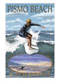 Surfer Day Scene - Pismo Beach, California Prints by  Lantern Press