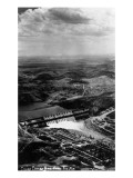 Grand Coulee, Washington - Aerial View of the Dam Poster by  Lantern Press