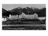 Sitka, Alaska - Pioneers Home Exterior View Print