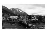 Seward, Alaska - View of Town Prints by  Lantern Press