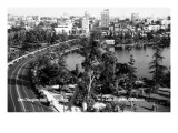 Los Angeles, California - Aerial View of Gen Douglas Mac Arthur Park Prints by  Lantern Press