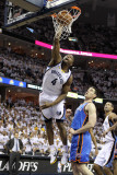 Oklahoma City Thunder v Memphis Grizzlies - Game Three, Memphis, TN - MAY 7: Sam Young and Nick Col Photographic Print by Andy Lyons