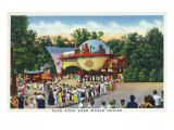 Glen Echo, Maryland - Crowds in Line at Glen Echo Park Gates Print