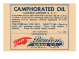 Camphorated Oil - Liniment Poster