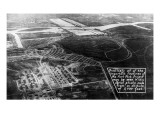Fort Peck, Montana - Aerial Poster