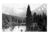 Hunter, Alaska - View of Mountains and a Lake Prints