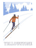 Yellowstone Nat'l Park - Cross Country Skier Prints by  Lantern Press