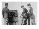 Us Signal Corps Works With Wireless In the Field Prints