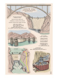 Hoover Dam - Technical Poster Prints by  Lantern Press