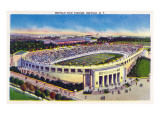 Buffalo, New York - Buffalo Civic Stadium View Poster