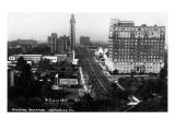 Los Angeles, California - Aerial View of Wilshire Boulevard Kunst von  Lantern Press