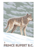 Prince Rupert, BC Canada - Wolf Scene Prints by  Lantern Press