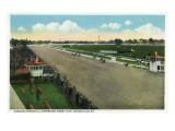 Louisville, Kentucky - Famous Churchill Downs on Derby Day Scene Prints