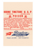 Iodine Tincture U.S.P. - Poison Prints