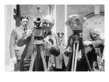 President Harding Tries Out a Motion Picture Camera Prints