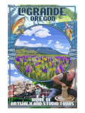 LaGrande, Oregon Town Views Posters by  Lantern Press