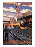 Union Train Station - Portland, Oregon Poster von  Lantern Press