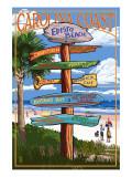 Edisto Beach, South Carolina - Sign Destinations Print