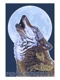 Prince Rupert, BC Canada - Wolf Howling Posters