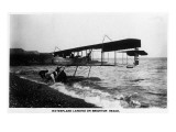 Brighton Beach, New York - Wake Up England Waterplane Landing Posters by  Lantern Press
