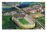 Cambridge, Massachusetts - Harvard University; Aerial of Stadium Pôsters por  Lantern Press