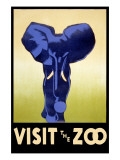 Visit the Zoo - Elephant Charging Poster