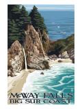 McWay Falls - Big Sur Coast, California Affiches