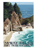 McWay Falls - Big Sur Coast, California Kunstdrucke von  Lantern Press