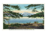Yellowstone Nat'l Park, WY - Yellowstone Lake and Colter Peak Prints by  Lantern Press