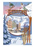 Keystone, Colorado Montage Posters par  Lantern Press