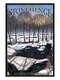America's Stonehenge, New Hampshire - Winter Posters by  Lantern Press