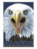 Eagle Up Close - Alaska Prints by  Lantern Press