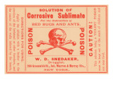 Solution of Corrosive Sublimate Posters