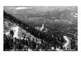 Colorado - Aerial View of Shrine of the Sun, Colorado Springs from Cheyenne Mt Poster by  Lantern Press