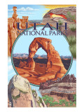 Utah National Parks - Delicate Arch Center Prints by  Lantern Press
