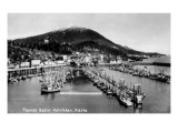 Ketchikan, Alaska - Thomas Basin, View of Harbor Prints by  Lantern Press