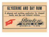 Glycerine And Bay Rum Posters