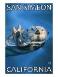 San Simeon, CA - Sea Otter - Posters