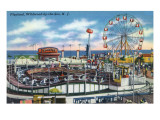 Wildwood-by-the-Sea, New Jersey - View of Playland Amusement Park Print