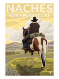 Naches, Washington - Cowboy Posters by  Lantern Press
