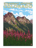 Steamboat Springs, CO - Mountain Scene Prints by  Lantern Press