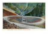 Yellowstone Nat'l Park, Wyoming - Cody Road Spiral Bridge at S Hill Prints