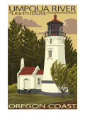 Umpqua River Lighthouse - Oregon Posters by  Lantern Press