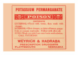 Potassium Permanganate - Poison Print
