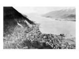 Juneau, Alaska - Aerial View of the City Prints by  Lantern Press