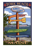 York Beach, Maine - Sign Destinations Prints by  Lantern Press