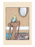 Polly Parrot on the Chair Prints by Julia Dyar Hardy