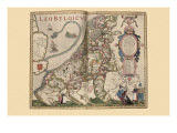 Netherlandic Lion Poster von Pieter Van der Keere