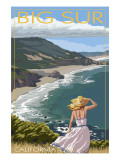 Big Sur, California Coast Scene Kunstdrucke von  Lantern Press