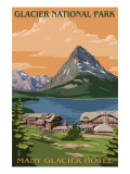 Many Glacier Hotel - Glacier National Park, Montana Prints by  Lantern Press